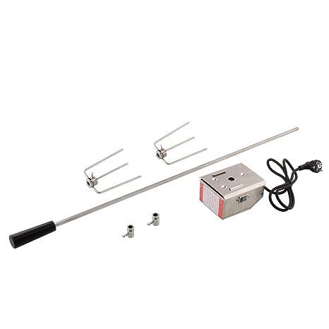MVPower - Asador giratorio eléctrico de acero inoxidable con motor para barbacoa de gas (4