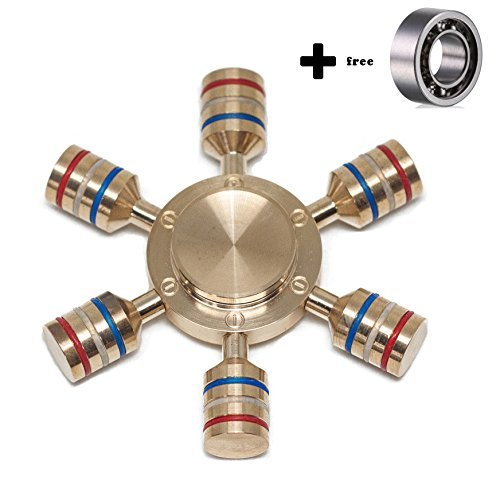 durable brass R188 bearing fast and slient 2-5 mins spin time premium finish ILoveFidget Mini Hand Spinner Blue Stress Relief Fidget Spinner Toy