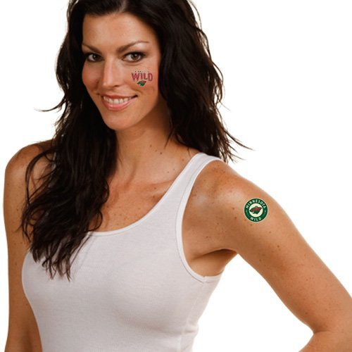 WinCraft NHL Minnesota Wild Temporary Tattoos, One Size, Team Color ()