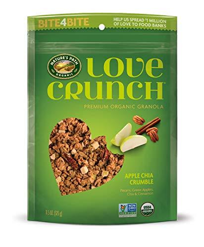Nature's Path Organic Love Crunch Premium Granola, Apple Chia Crumble, 11.5 Ounce (Pack of 6) -