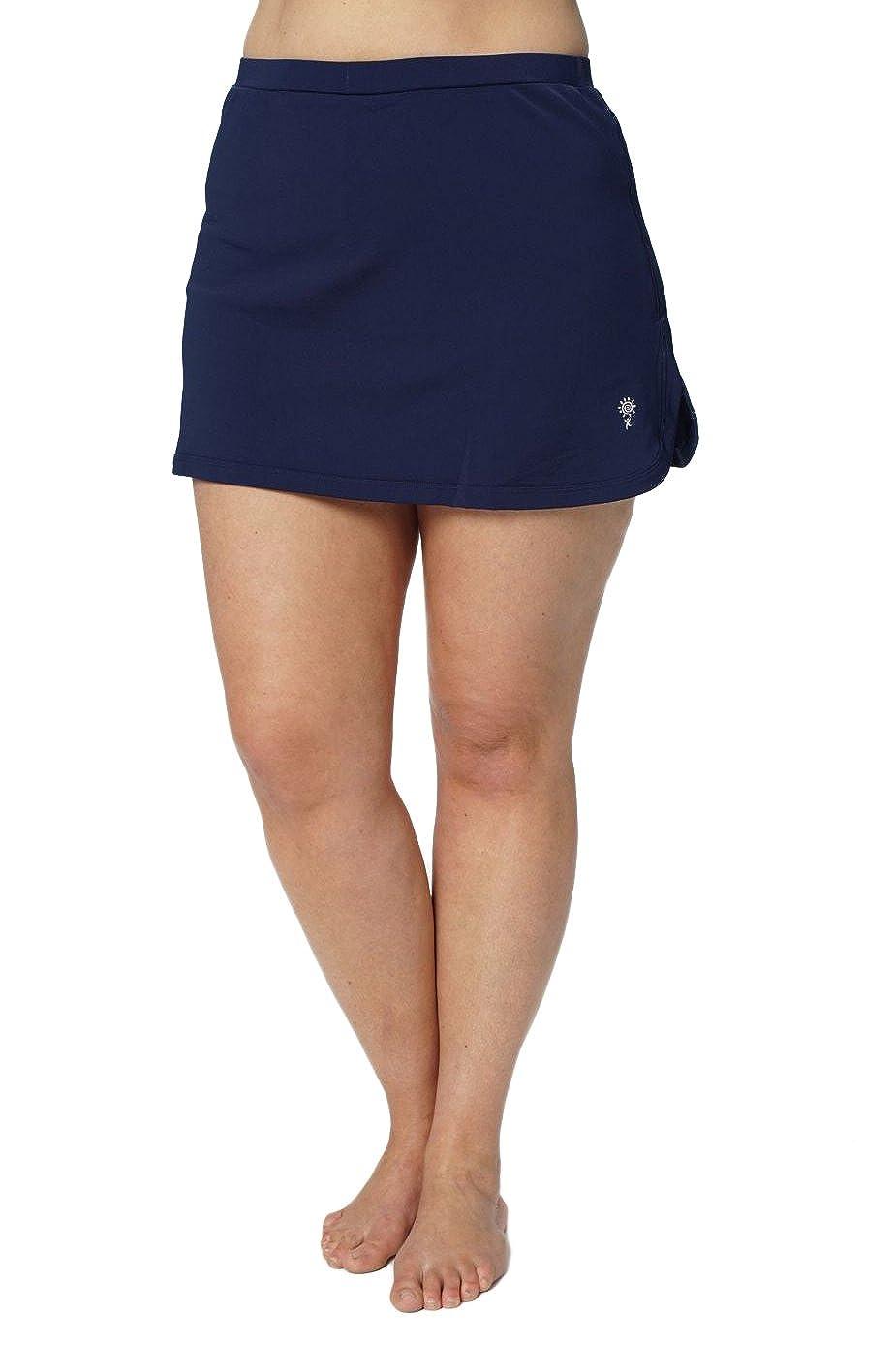 HydroChic Women's Plus Size Swim Skort – Modest Skirtini, Swimsuit Shorts Skirt Bikini Bottom