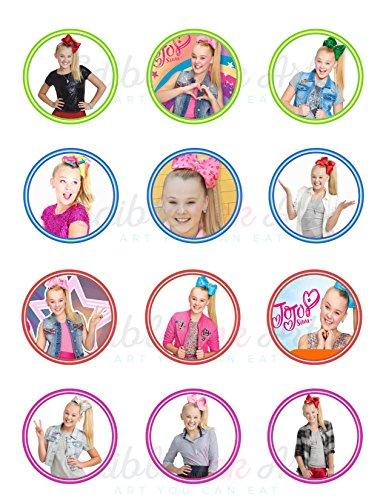 JoJo Siwa Joelle Joanie Siwa Edible Cupcake Toppers (12 Images) Cake Image Icing Sugar Sheet Edible Cake Images ~ Best Quality Edible Images for Cupcakes