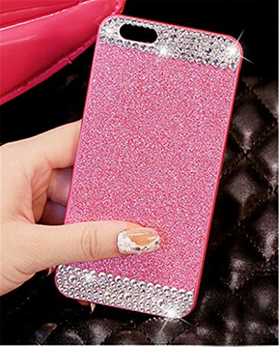 iAnko Bling Rhinestone Diamond Crystal Glitter Bling Hard Case Cover Shell Phone Case for iPhone 6 & iPhone 6s 4.7 Inch (soft case)