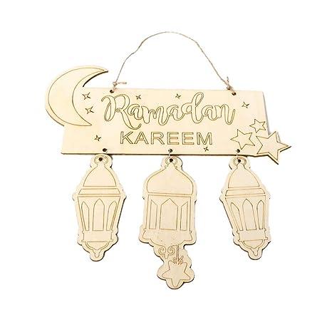 quality design 9eb71 49123 Lazder Eid Mubarak islamico Ramadan decorazioni da appendere ...