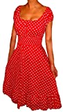 Funfash Clothing for Women Polka Dots Rockabilly Retro Cocktail Dress