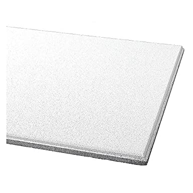 """White ARMSTRONG Mineral Fiber Ceiling Tile,24/"""" W,48/"""" L,3//4/"""" Thick,PK6 510A"""