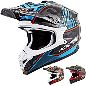 Scorpion VX-35 Miramar Off-Road Motorcycle Helmet (Orange, Large)