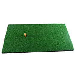 Truedays Golf Mat 12''x 24'' Residential Practice Hitting Mat Rubber Tee Holder