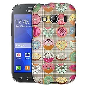 Samsung Galaxy Ace Style Case, Slim Fit Snap On Cover by Trek Half Eaten Dounut Pattern on Plaid Blanket Case
