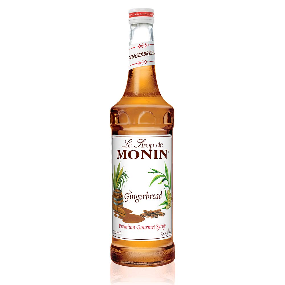 Monin - Gingerbread Syrup, Hint of Nutmeg and Cinnamon, Natural Flavors, Great for Lattes, Mochas, Sodas, and Cocktails, , Non-GMO, Gluten-Free (750 ml)