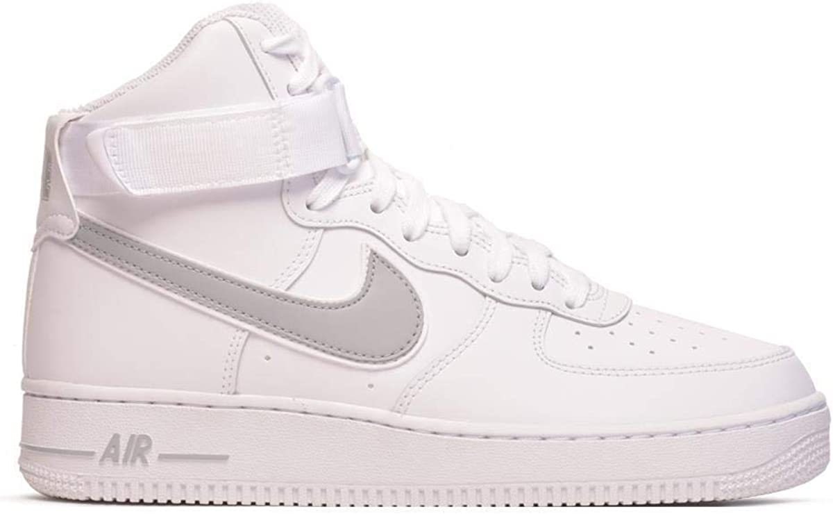 Nike Air Force 1 High '07 3 Sneakers Bianco Grigio AT4141