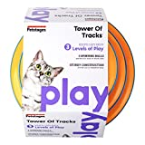 Petstages Tower of Tracks Cat Toy - 3 Levels of Interactive Play - Circle Track with Moving Balls Satisfies Kitty's Hunting - Chasing & Exercising Needs