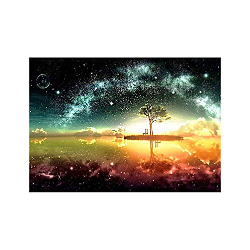Floralby 5D Diamond Painting Full Drill DIY Handmade Pasted Embroidery Cross Stitch Arts Craft Mystical Tree