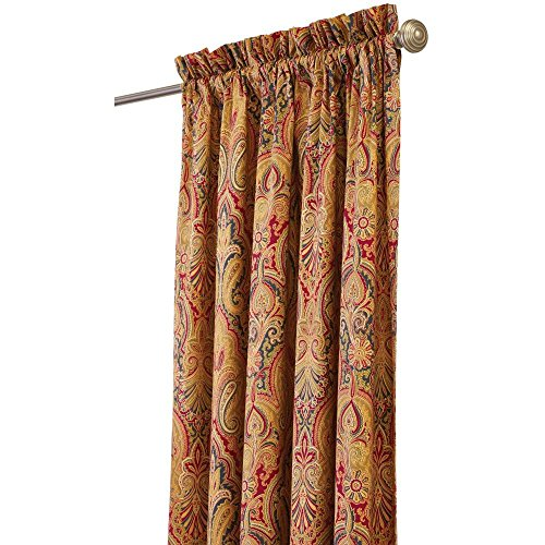 Home Decorators Collection Semi-Opaque Trophy Room 108 in. L Cotton Drapery Panel in Jewel
