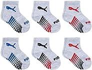 PUMA baby-boys 6 Pack Anklet Socks