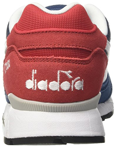Diadora Herren V7000 Nyl Ii Sneaker Schwarz (blu Denim Scuro Rosso Capitale)