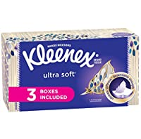 Kleenex Ultra Soft & Strong Facial Tissues, 120 Tissues per Flat Box, 3 Pack