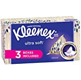 Health & Personal Care : Kleenex Ultra Soft & Strong Facial Tissues, 120 Tissues per Flat Box, 3 Pack