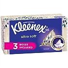Kleenex Ultra Soft & Strong Facial Tissues, 120 Tissues per Flat Box, 3 Pack