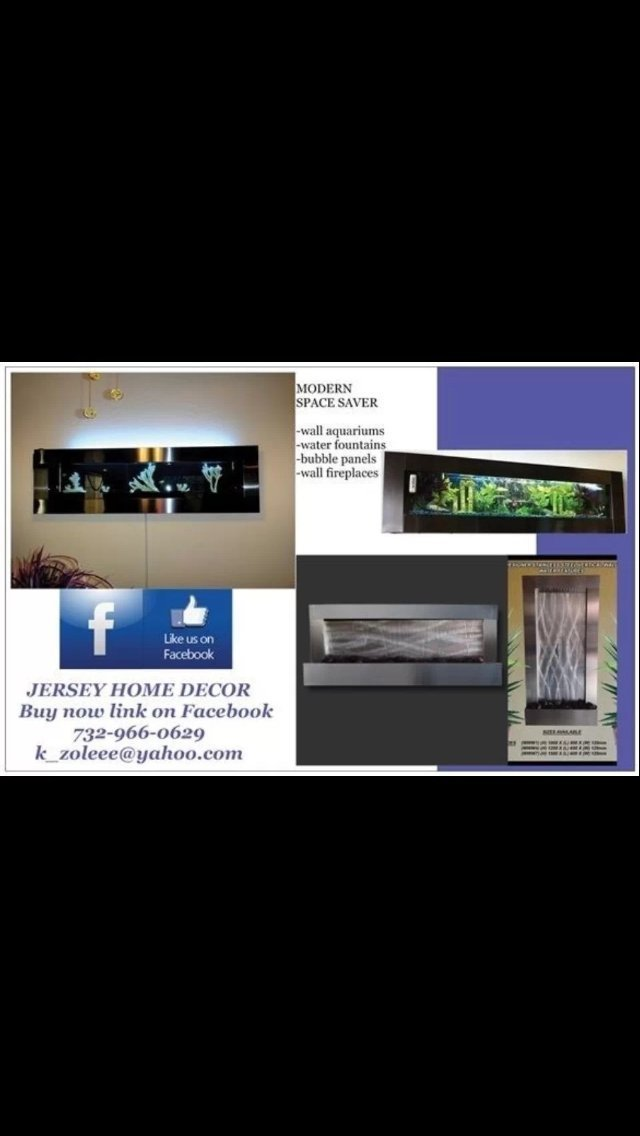 Wall WaterFall XL 47''x24'' Stainless Steel wall fountain ,Mirror Glass , Color Lights Remote Ctrl Sale