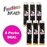 "2X SOFT CURLY FAUX LOC 18"" (6-Pack, 1) - FreeTress Synthetic Crochet Braid"