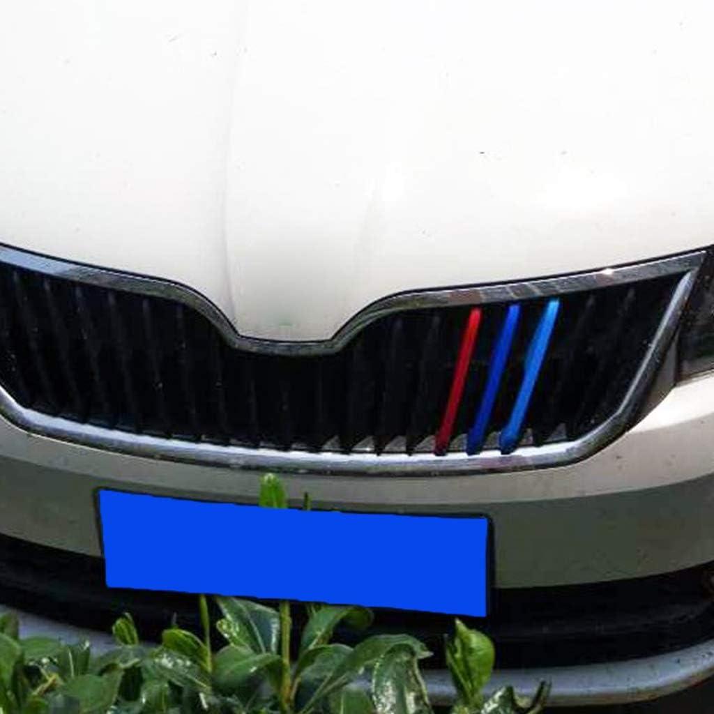 Senoow 3D Car Front Grilles Trim Sport Strips Cover For Skoda Rapid Spaceback//Rapid