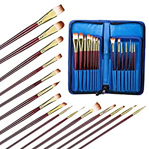 Artist Paint Brushes Set for Watercolor, Acrylic & Oil Paint - Acrylic Paint Set - Paint Palette with Lid - Special Effect Painting Knife - The Paintbrush Set Gift for Kids, Beginners & Professionals