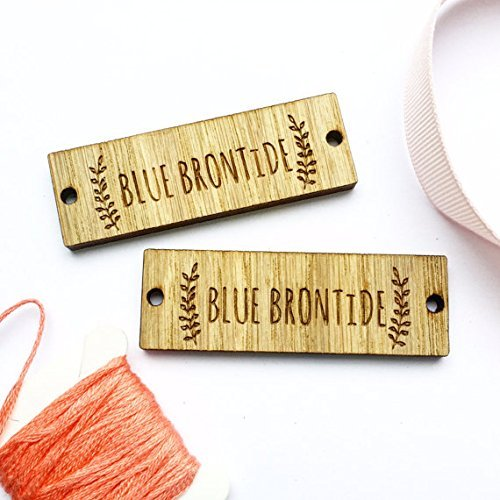 99457ba1a Sew on Wooden tags Custom Clothing Labels Wooden Tags Wooden Labels  Clothing Tags Labels for Handmade: Amazon.co.uk: Handmade