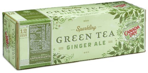 Canada Dry Green Tea Ginger Ale, 12pk, 12 oz Cans