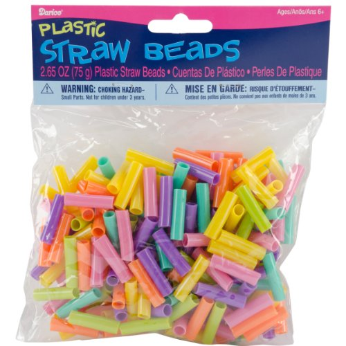 Plastic Kids Bead Straws Grams
