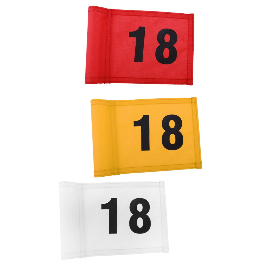 MagiDeal 3 Pieces Durable Nylon Backyard Outdoor Practice Golf Flag Golf Putting Green Flag with Number 18 by Unknown (Image #9)