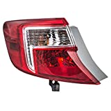 Drivers Taillight Quarter Panel Mounted Tail Lamp Replacement for Toyota 81560-06470