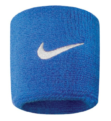 Nike Swoosh Wristbands (Royal Blue/White, Osfm)