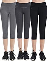 FITTIN Women's Workout Leggings Capris With Pocket - Yoga Pants For Running Sports Fitness Gym