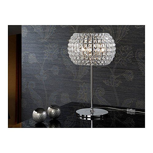 Schuller Spain 507818I4L Modern, Art Deco Chrome Open Dome Table Lamp 3 Light Living Room, bed room, Study, Bedroom LED, Open Dome Chome Table Lamp | ideas4lighting by Schuller