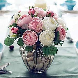 XGM GOU 10Pcs Real Touch Camellia Slik Artificial Flower Bouquets Home Wedding Bride Decor Decorative Flowers & Wreaths 76