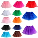 MIOIM Ladies Girls Tulle Tutu Skirts Dancewears Pettiskirt Mini Fancy Dress Party