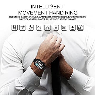 Fitness Tracker,Color Big Screen Activity Tracker Watch with Blood Pressure Blood Oxygen, IP67 Waterproof Smart Band with Heart Rate, Sleep Monitor, Call Message Reminder,Pedometer for Men, Women Kids
