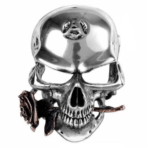 Wood Skull Belt Buckle - Alchemist Rex Skull Design Belt Buckle - Handmade in England