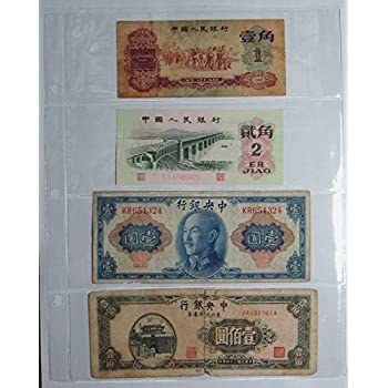 3 Pockets Clear 20 Pages for Banknotes US Currency Bill Collection BCW 3 Rings