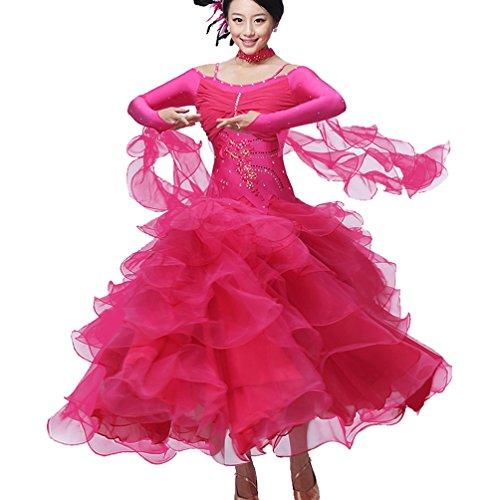 Tango Vestito Donne Ballo Lunga Gonna Valzer Manica Competizione Costume Abbigliamento Da Abiti Per xl Performance Le Moderno 1 Wqwlf S YBO7qxpwq