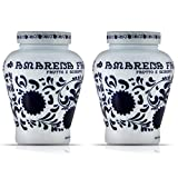Fabbri Amarena Cherries from Italy Candied in Rich Amarena Syrup - Italian Specialty Stemless Stoned Dark Black Wild Cherries for Sweet & Savory Dishes, Cheeses, Desserts, Cocktails, 21oz (2 pack)