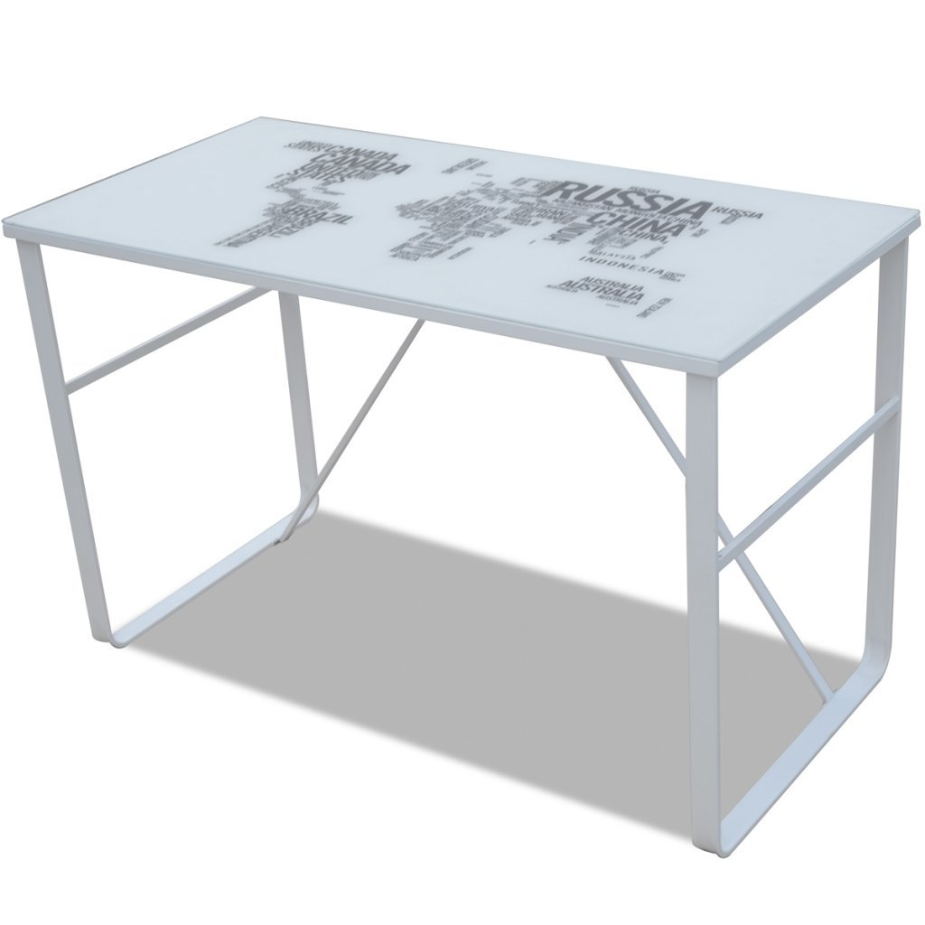 vidaXL Escritorio Rectangular con mapamundi Impreso product image