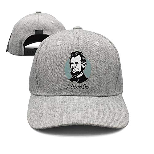 NEWBEGINer Dad Mens Baseball caps 15 Abraham Lincoln Clipart Lincoln's Birthday Flat hat for Men Curved dad hat for - Cap Mesh Lincoln Abraham