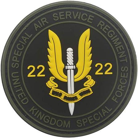 Ohrong Airsoft SAS Parche de PVC SWAT Morale Insignia de Goma táctica Militar Cosplay Emblema Brazalete con Gancho en la Parte Trasera: Amazon.es: Hogar