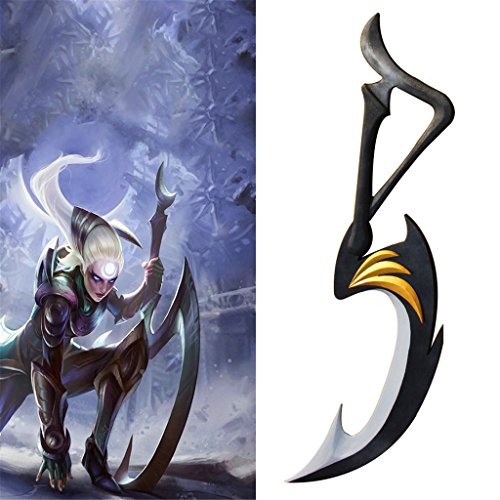 Diana Blades Costume (Mtxc League of Legends Cosplay Diana Weapons Crescent Blade Black)