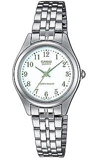 Casio Reloj Analógico para Mujer de Cuarzo con Correa en Acero Inoxidable LTP-1129PA-