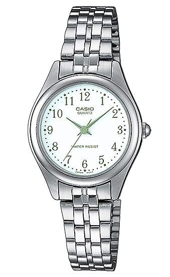 40355873516c Casio Reloj Analógico para Mujer de Cuarzo con Correa en Acero Inoxidable  LTP-1129PA-7BEF  Amazon.es  Relojes