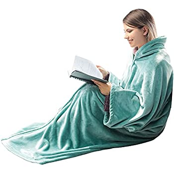 honeymoon home fashions fleece flannel wearable blanket for adult 2 in 1 cozy fuzzy. Black Bedroom Furniture Sets. Home Design Ideas