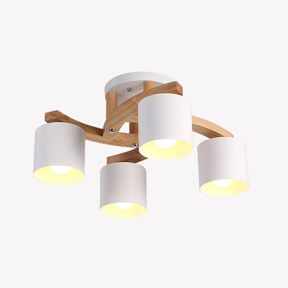 Runde Massivholz Deckenleuchten, Nordic LED Eisen Beleuchtung Dekorative Kronleuchter Europäische Mode Wohnzimmer Studie Esstisch Pendelleuchte Moderne Schlafzimmer Gang Cafe Deckenleuchte